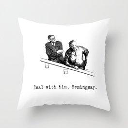 James Joyce x Ernest Hemingway - Drunken Shenanigans Painting Throw Pillow