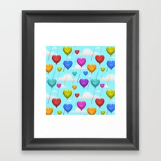 Love is in the Air! Framed Art Print