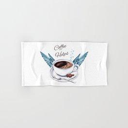 Life Happens Coffee Helps - Coffee Angel Hand & Bath Towel