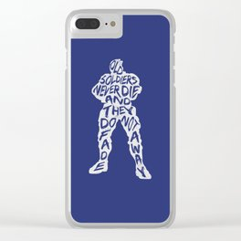 Soldier 76 Type illustration Clear iPhone Case