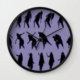 purple dancer Wall Clock