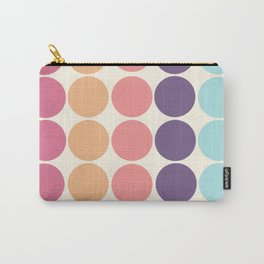Classic Freehand Vintage Style Retro Dots Carry-All Pouch