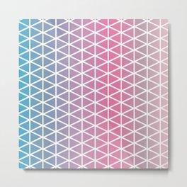 Calming triangle harmony Metal Print