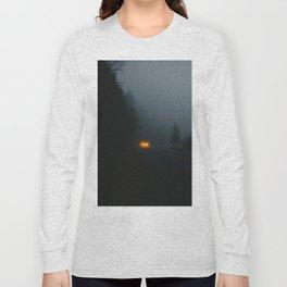 Headlight On A Misty Mountain Road Long Sleeve T-shirt