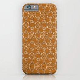 Hexagonal Circles - Tumeric iPhone Case