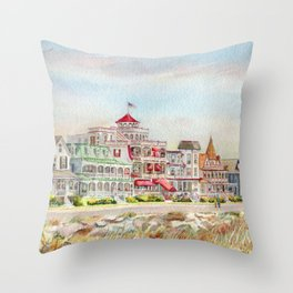 Cape May Promenade Throw Pillow