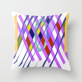 Abstract Checkboard Throw Pillow