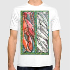 Frome the sea MEDIUM Mens Fitted Tee White