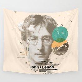 john lenon-imagine Wall Tapestry