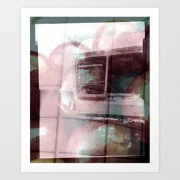 Backwards With Time  Art Print