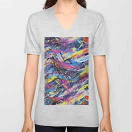 Colorful Abstract Art Unisex V-Neck