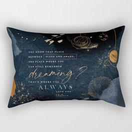Sleep and Awake Rectangular Pillow