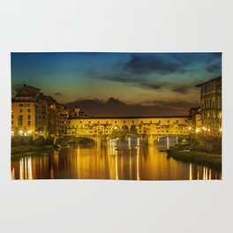 FLORENCE Ponte Vecchio at Sunset Rug