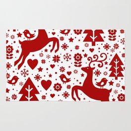Scandinavian Christmas pattern Rug