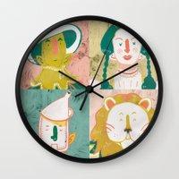 oz Wall Clocks featuring Oz by StinkyInky_Jess