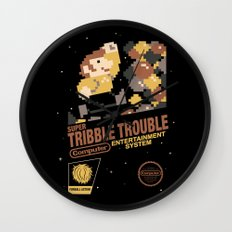 Super Tribble Trouble Wall Clock