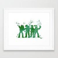 teenage mutant ninja turtles Framed Art Prints featuring Teenage Mutant Ninja Turtles by Carma Zoe