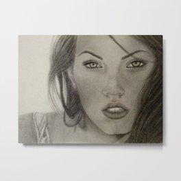 Megan Fox Drawing Metal Print