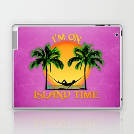 Pink Island Time Laptop & iPad Skin