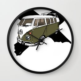 Groovy BUS (no text) Wall Clock
