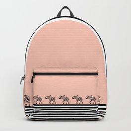 ELEPHANT & STRIPES CORAL Backpack