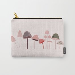 Shrooms - Pink Carry-All Pouch