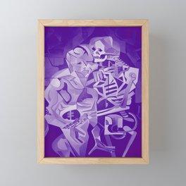 Halloween Skeleton Welcoming The Undead Framed Mini Art Print