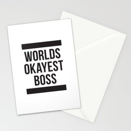 Worlds Okayest Boss Stationery Cards