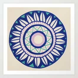 The Pink and Blue Mandala Art Print