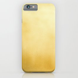 Modern elegant chic  faux gold foil gradient iPhone Case