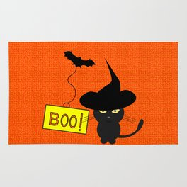 Cute cat on Halloween Rug
