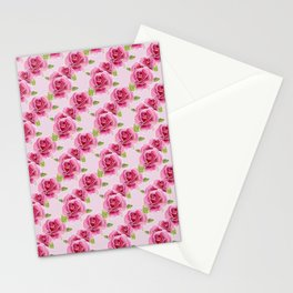 Watercolour Roses - Pink Bg Stationery Cards
