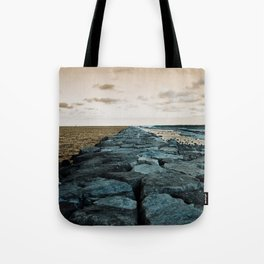 Barnegat Light 2 (jetty) Tote Bag