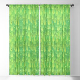 Radioactive Slime Sheer Curtain