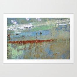 Harbour Abstract II - JUSTART (c) Art Print