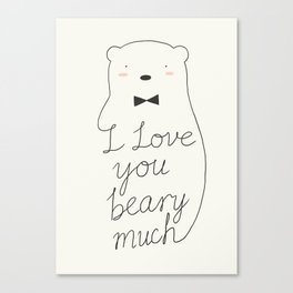 I love your beary much Canvas Print