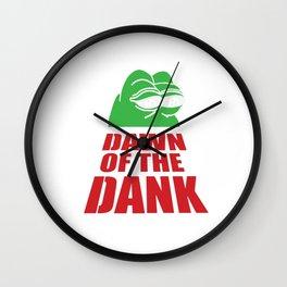 Pepe Dawn Of The Dank Wall Clock