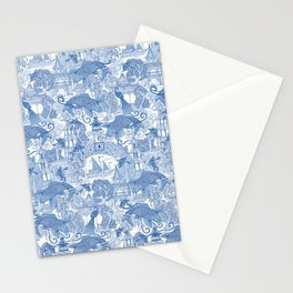 chinoiserie toile blue Stationery Cards