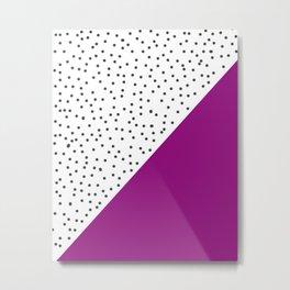 Geometric grey and purple design Metal Print