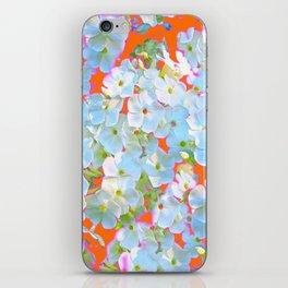 CUMIN ORANGE COLOR & WHITE LACE FLORAL GARDEN iPhone Skin