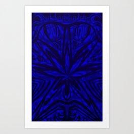 Bud buggin blue Art Print