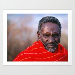 African Maasai Elder Art Print