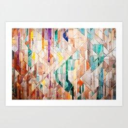 Pastel Tile Mosiac 1 Art Print
