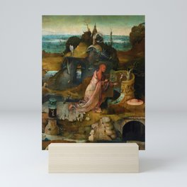 "Hieronymus Bosch ""Hermit Saints Triptych"" - Saint Jerome Mini Art Print"