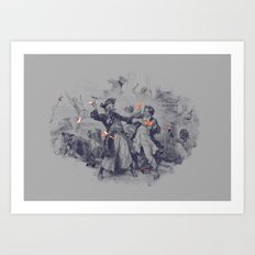 Epic Battle Art Print