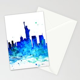 New York, watercolor Stationery Cards
