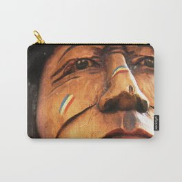 Wooden Native American Indian Carry-All Pouch