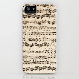 Johann Sebastian Bach (1685 – 1750) original music sheet iPhone Case