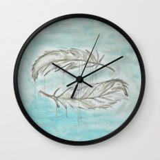Feathers and memories Wall Clock