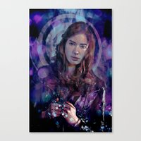 amy pond Canvas Prints featuring Amy Pond by Sirenphotos